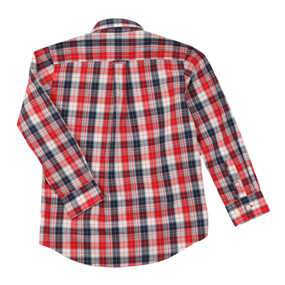 Gant Boys Red Small Broadcloth Check Shirt main image