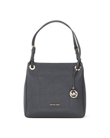 Michael Kors Womens Blue Walsh Mid Shoulder Tote