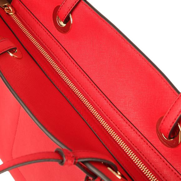 Michael Kors Womens Red Walsh Large Top Zip Tote main image