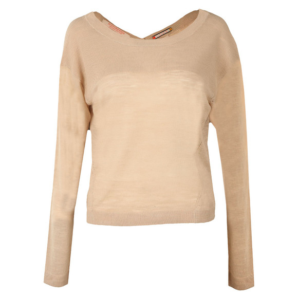 Maison Scotch Womens Beige Light Linen Blend Knit main image
