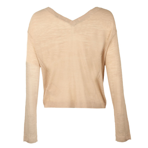Maison Scotch Womens Beige Light Linen Blend Knit