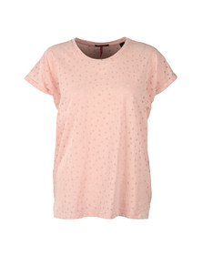 Maison Scotch Womens Pink Burn Out Tee