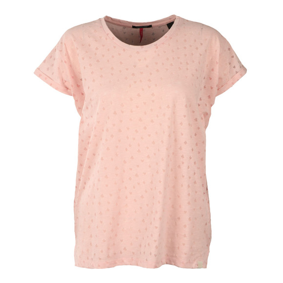 Maison Scotch Womens Pink Burn Out Tee main image