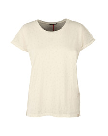 Maison Scotch Womens White Burn Out Tee