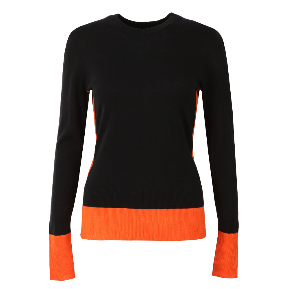 Contrast Collar Rib Sweater main image