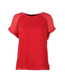 Maison Scotch Womens Red Sleeveless Jersey T Shirt