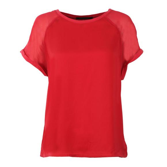 Maison Scotch Womens Red Sleeveless Jersey T Shirt