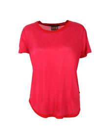 Maison Scotch Womens Pink Short Sleeve Basic Tee