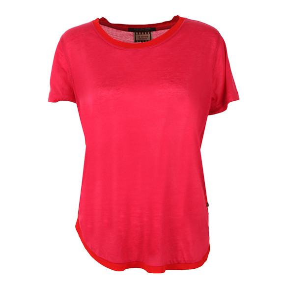Maison Scotch Womens Pink Short Sleeve Basic Tee main image