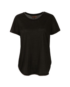 Maison Scotch Womens Black Short Sleeve Basic Tee