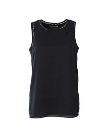 Maison Scotch Womens Blue Sleeveless Silky Feel Top