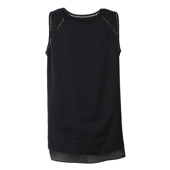 Maison Scotch Womens Blue Sleeveless Silky Feel Top main image