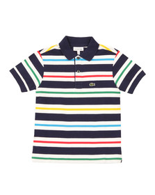 Lacoste Boys Blue Boys PJ2890 Stripe Polo