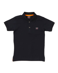 Paul & Shark Cadets Boys Blue Plain Pique Polo Shirt