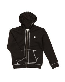 True Religion Boys Black Horseshoe Logo Hoody