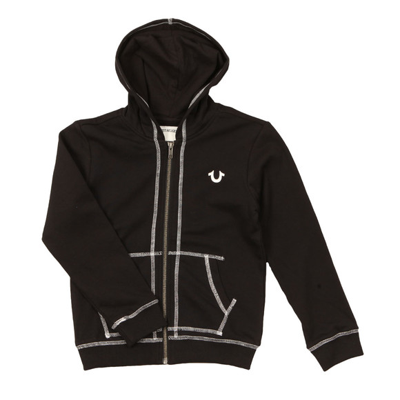 True Religion Boys Black Horseshoe Logo Hoody main image