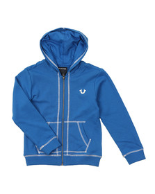 True Religion Boys Blue Horseshoe Logo Hoody