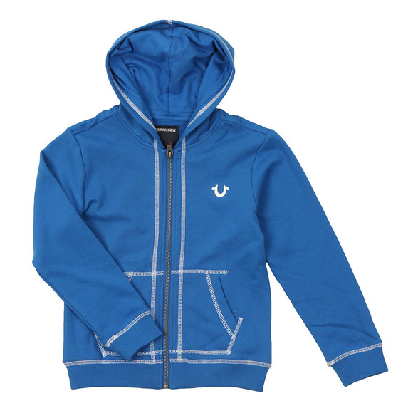 True Religion Boys Blue Horseshoe Logo Hoody main image