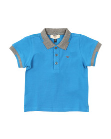 Armani Baby Boys Blue 3YHF01 Tipped Polo Shirt