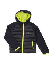 Hackett Boys Blue AMR Fleece Puffer Jacket