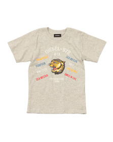 Diesel Boys Grey Boys Tavi T Shirt