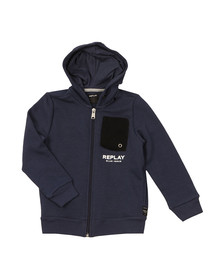 Replay Boys Blue Boys Mesh Pocket Hoody