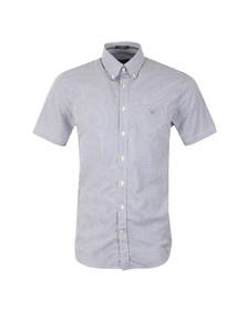 Gant Mens Blue S/S Stripe Banker Shirt