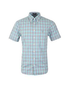 Gant Mens Blue S/S Poplin Check Shirt