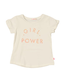 Billieblush Girls White Girl Power T Shirt