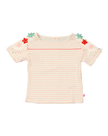 Billieblush Girls Pink Flower Shoulder T Shirt