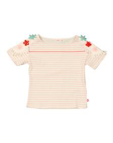 Billieblush Girls Pink Flower Shoulder T Shirt