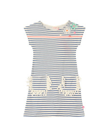Billieblush Girls Blue U12292 Stripe Dress