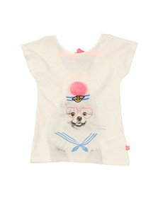 Billieblush Girls Off-white Pom Pom T Shirt