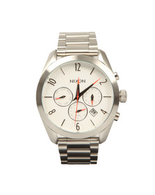 Nixon Mens White Bullet Chrono Watch