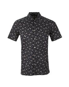 Paul Smith Mens Blue Floral Short Sleeve Shirt