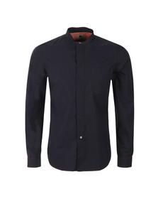Paul Smith Mens Blue Grandad Collar Shirt