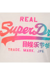 Superdry Womens White Vintage Logo Burnout Tee