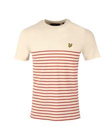 Lyle and Scott Mens Orange Breton Stripe T-Shirt