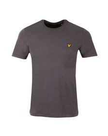 Lyle and Scott Mens Grey Plain Pick Stitch T-Shirt