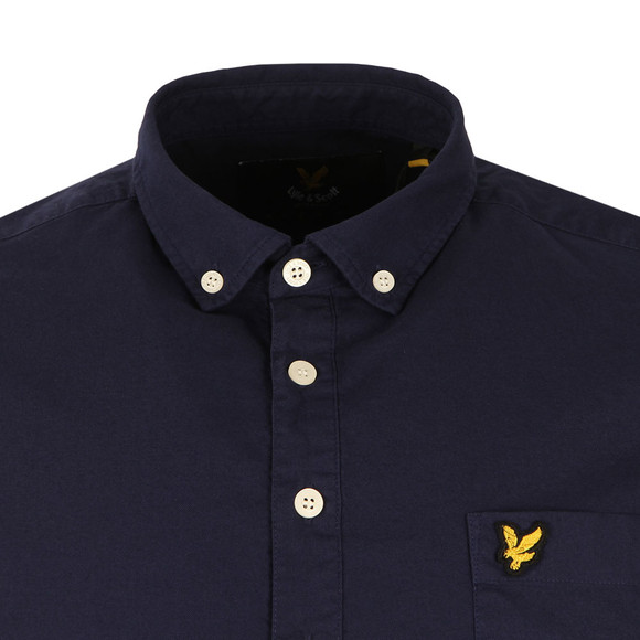Lyle and Scott Mens Blue Oxford Over The Head Shirt main image
