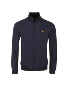 Lyle and Scott Mens Blue Funnel Neck Soft Shell Jacket