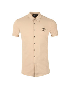 Gym king Mens Beige Short Sleeve Jersey Shirt