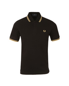 Fred Perry M12 Mens Black S/S Tipped Polo