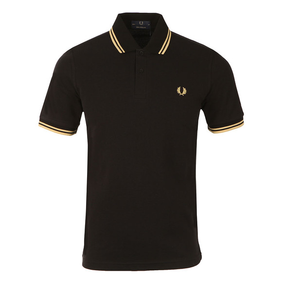 Fred Perry (Reissues) Mens Black Twin Tipped Polo main image