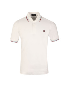 Fred Perry M12 Mens White S/S Tipped Polo