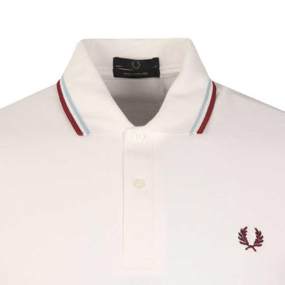 Fred Perry M12 Mens White S/S Tipped Polo main image