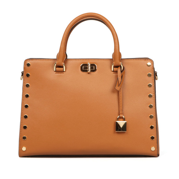 Michael Kors Womens Brown Sylvie Stud Large Satchel main image