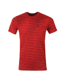 Luke Mens Red Skinny Multi Space Crew Tee