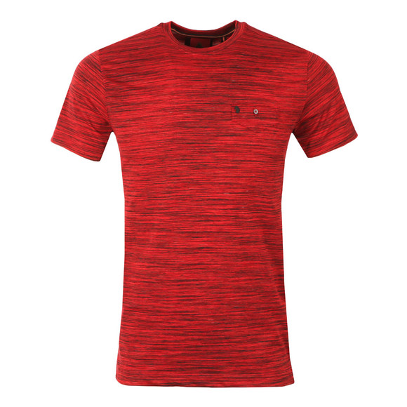 Luke Mens Red Skinny Multi Space Crew Tee main image