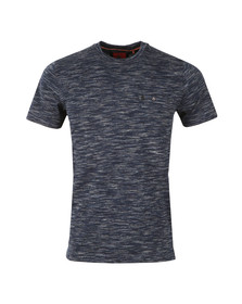 Luke Mens Blue Skinny Multi Space Crew Tee
